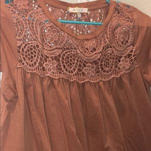 Lace Anthropologie Flowy Shirt